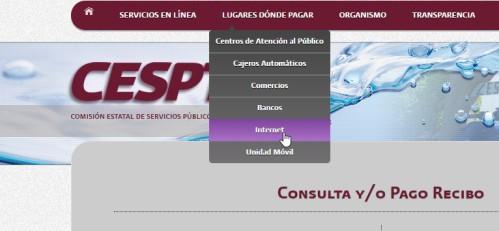 Forma de pago CESPT