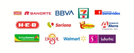 Establecimientos para pagar Mexicana de Gas