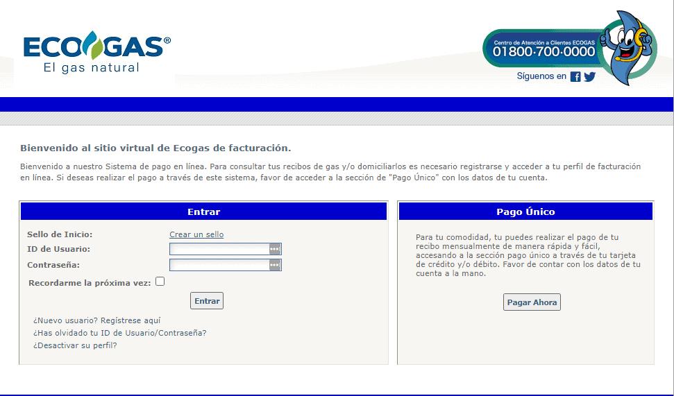 Facturación en línea ECOGAS