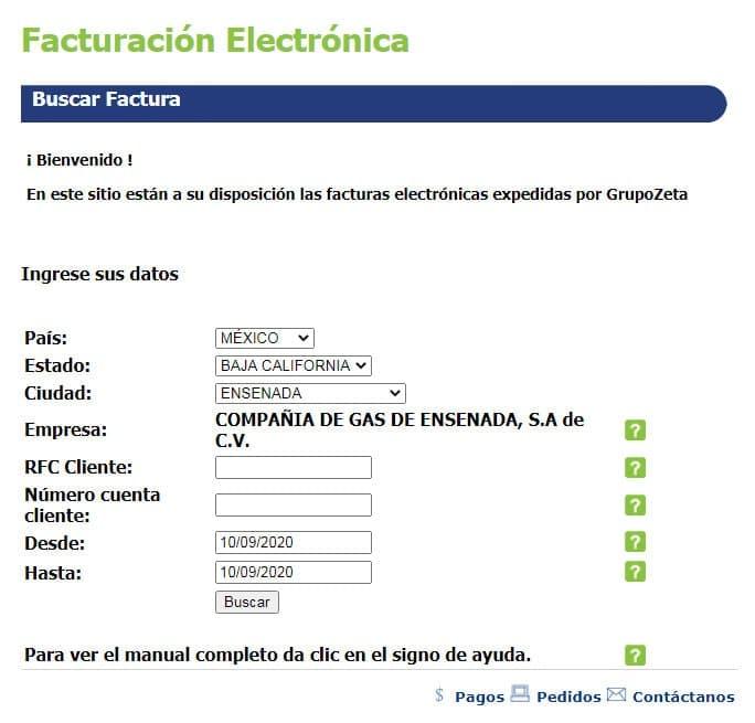 Facturación electrónica Z GAS